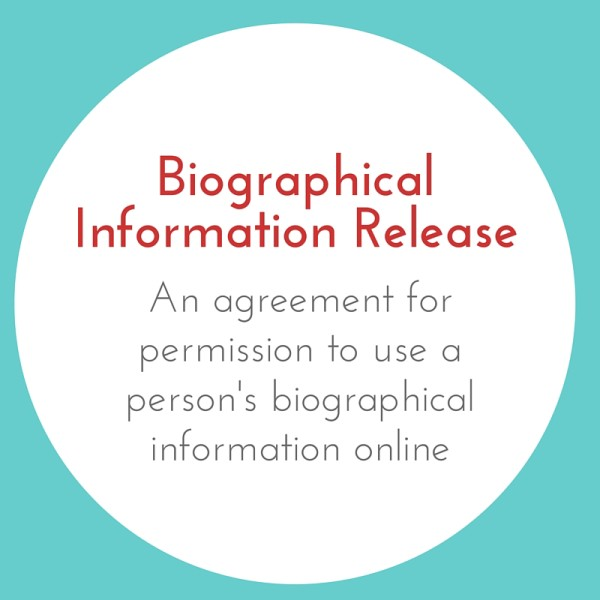 Biographical Info Release