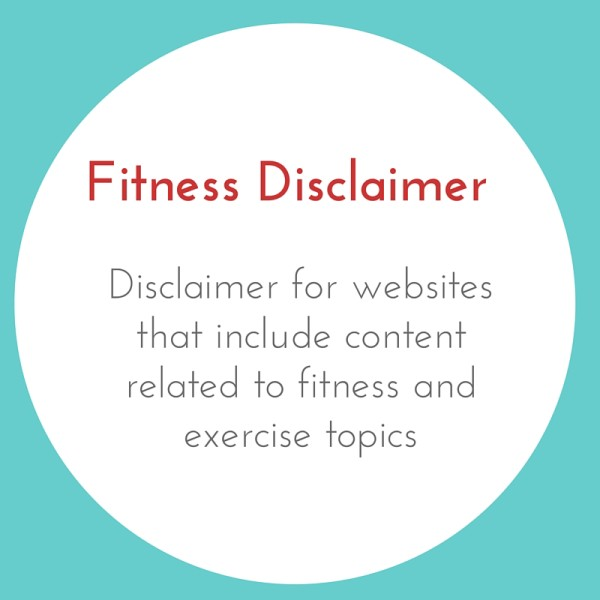 Fitness Disclaimer