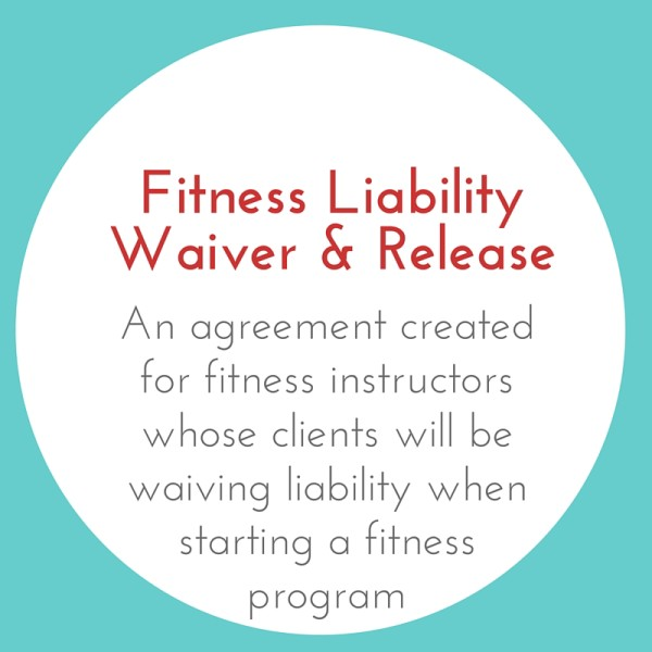 Fitness Liability Waiver and Release