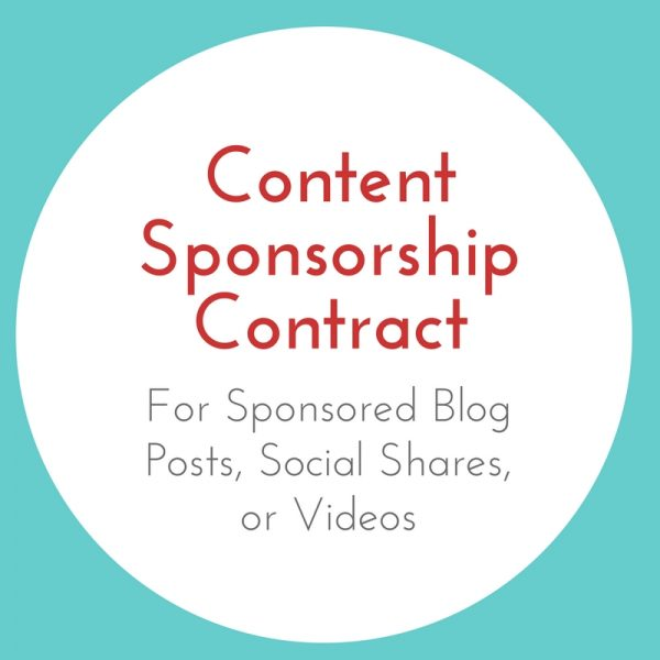 Content Sponsorship Contract for Sponsored Blog Posts, Social Shares, or Videos
