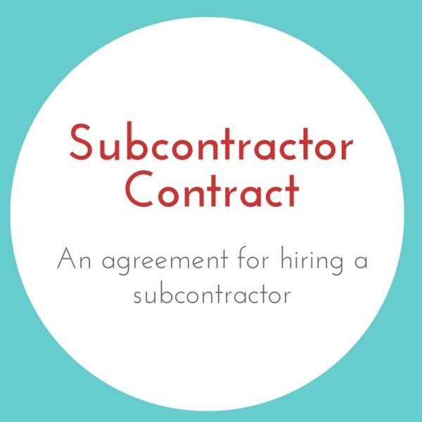 Subcontractor Contract