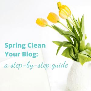 Spring Clean Your Blog: A Step by Step Guide