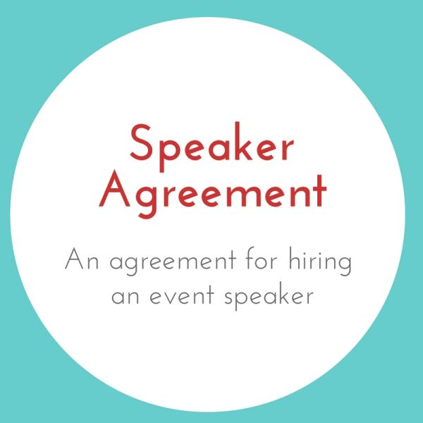 Speaker Agreement Contract Template