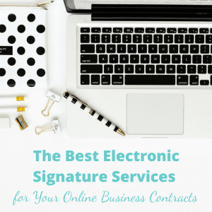 Electronic Signature Services for Online Business Contracts