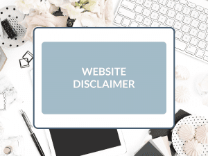 Purchase Website Disclaimer