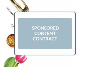 Purchase Sponsored Content Contract
